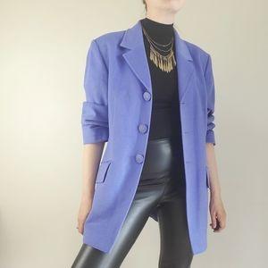 Vintage jaeger light purple blazer, wool angora